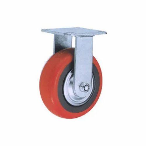Grey Polyurethane Castor Wheels, For Industrial