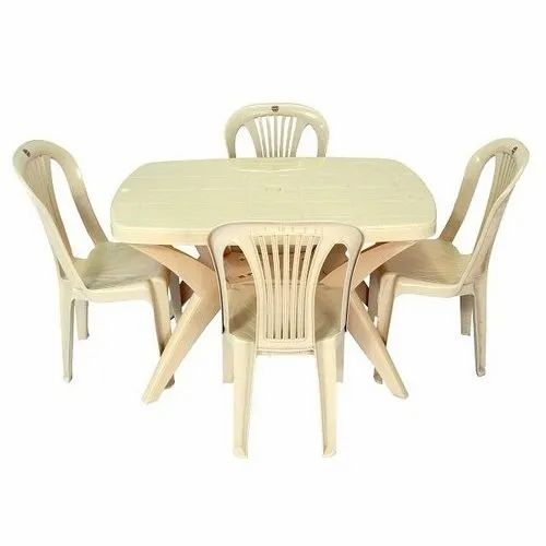 Cello Sleek Plastic Dining Table Set 4 Chairs And 1 Table Rs 4650 Set Id 21268617012