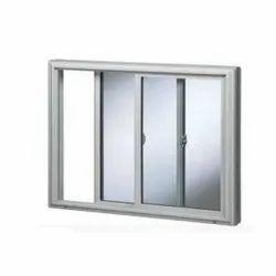 Powder Coated Rectangle Aluminium Sliding Window, for Residential