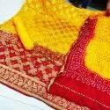 Banarasi Bandhej Ghatchola Suit