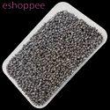 Eshoppee 1kg Black Gray Smoke Color Seed Beads 8/0