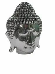 Metal Buddha Head Decor Statue