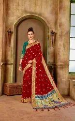 Party Wear Banarasi Silk Paithani Saree
