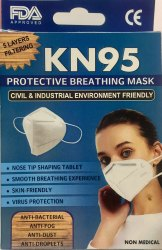 Reusable KN95 Protective Breathing Mask FDA