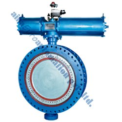 Pneumatic Actuator Fabricated Butterfly Valve