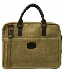 Vamasa Brown Jute Executive Laptop Bag