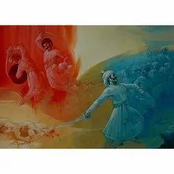 Mangal Sudha Fiber Kings Wall Paintings