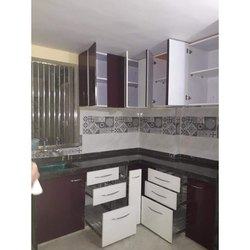 L Wooden Kitchen Cabinet