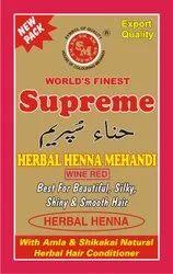 Supreme Herbal Wine Red Henna Mehandi