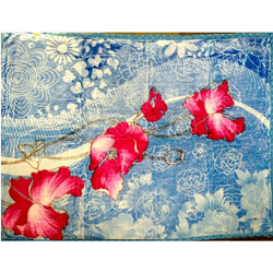 Sig. Diana Flower Printed Double Bed Blanket