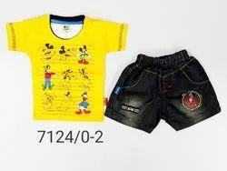 Cotton Boy Boys Denim Suits, Age: 0 - 2 Years