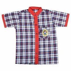 Cotton Boys Half Sleeves School Uniform Shirt, S-XXL, Packaging Type: Packet