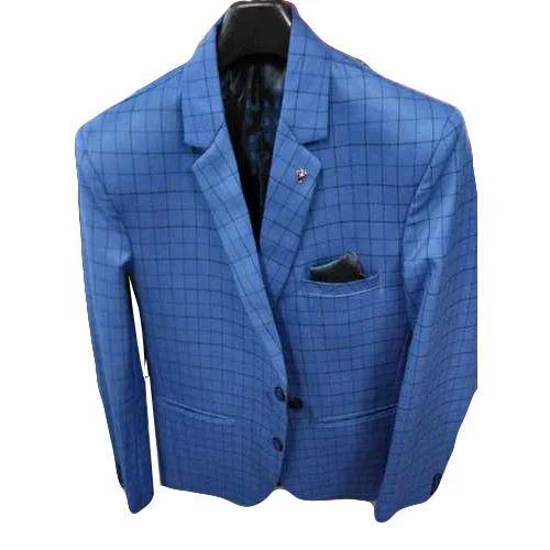 20781f6a8c2c Mens Cotton Blue Check Blazer, Rs 800 /piece, Shivam Garments | ID ...
