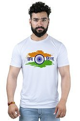 Hosiery Round Neck Jay Hind Printed T-shirt