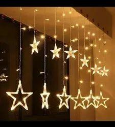 VINAYAK Warm White MultiColor Plastic Star decorative Light, For Decoration
