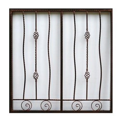 Interior & Exterior Polished Mild Steel Grill, For Window