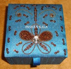 Gorgeous Zari Hand Embroidery Box
