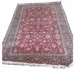 Rectangular Multicolor Hand Knotted Silk Carpet, for Floor