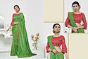 PR Fashion New Designer Saree With Embroidered Blouse