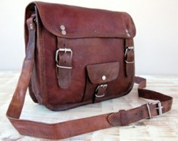 Vintage Leather Landscape Bag