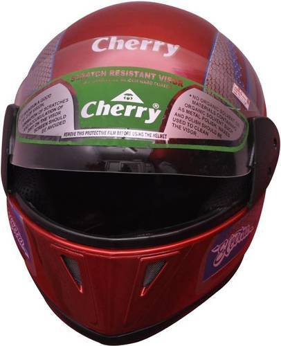 Cherry Plastic electra isi full face motorbike helmet (red), Size: L