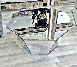 Mirror Glass Center Table