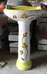 Designer Ceramic Vitrossa Wash Basin With Pedestal