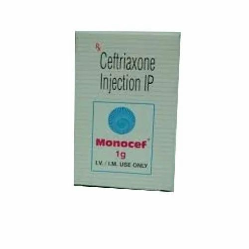 Ceftriaxone (1gm) Monocef 1 g Injection, Aristo Pharmaceuticals Pvt Ltd,  Prescription, Rs 59 /vial | ID: 22267094488