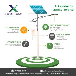 XERA TECH Sun Power Luminous Solar Lighting, For Garden, Grampanchayat, 50 To 75 Watt