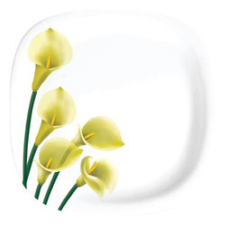 Five Flower Melamine Round Plate