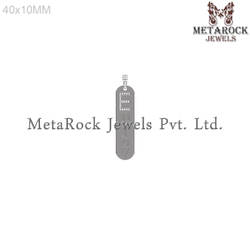 Micro Pave Diamond Initial Charm Pendant