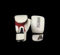 PU白色拳击手套,包装类型:PolyPack,尺寸:10至14盎司