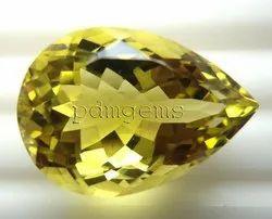 Lemon Quartz Pear Gemstone