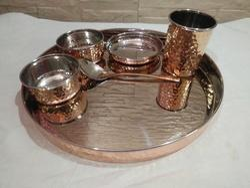Wandcraft Exports Steel Copper Thali Set