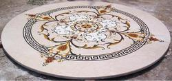 Cream Marble Inlaid Table Tops