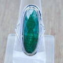 Emerald Gemstone Jewelry 925 Sterling Silver Ring