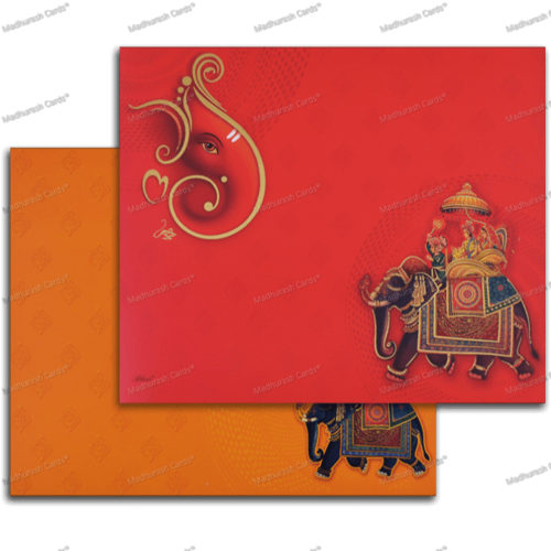 Rectangular Hindu Wedding Card Rs 42 Piece Madhurash Cards Id