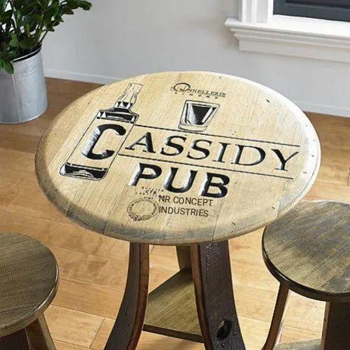 Strange Wine Barrel Bar Table Antique Classy Pub Table Download Free Architecture Designs Scobabritishbridgeorg