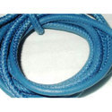 Blue Round Stitched Nappa Leather Cords