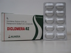 Diclofenac Sodium   Rabeprazole  Capsule