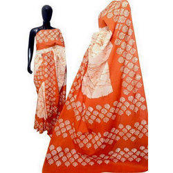 Hand Block Batik Cotton Saree