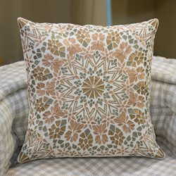 Mandala Embroidery Decorative Cotton Throw Pillow Case