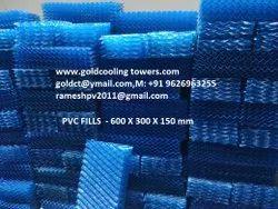 BLUE PVC Fills, Size: 600 X 300 X 150 Mm