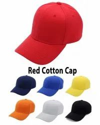 Red Cotton Baseball Caps