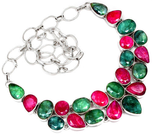 alloy gold emerald bangle ruby pc pearl biyu plated set