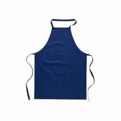 Blue Plain Cotton Apron, For Kitchen, Size: Medium
