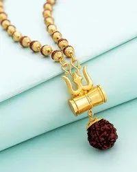 SSGJ Shiv Shakti Trishul Damru Rudraksha Locket shree shyam gems and jewellery