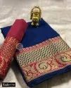 Heavy Cotton Silk Ladies Indian Wear Saree