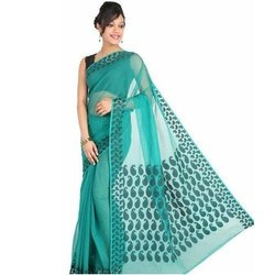 Casual Wear Ladies Cotton Net Saree, 6.3 M (with Blouse Piece)