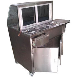 Stainless Steel Bhel Puri Counter